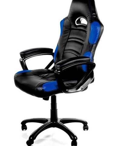 Herná stolička Arozzi Enzo čierna/modrá