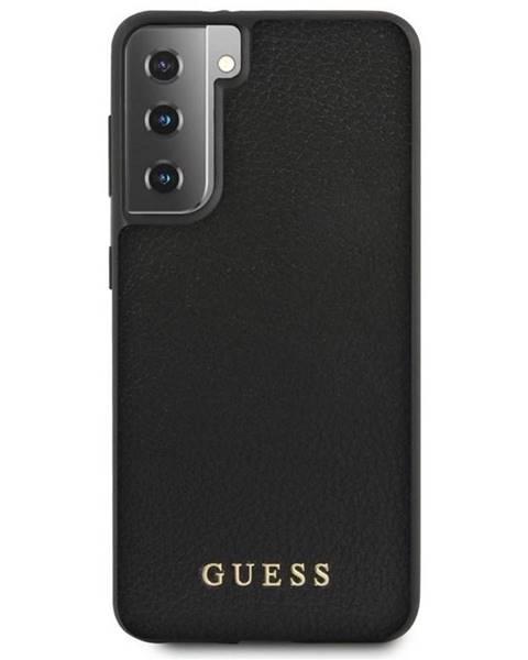 Guess Kryt na mobil Guess Iridescent na Samsung Galaxy S21 5G čierny