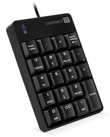Klávesnica Connect IT Numcalc CKB-0060-BK, numerická čierna