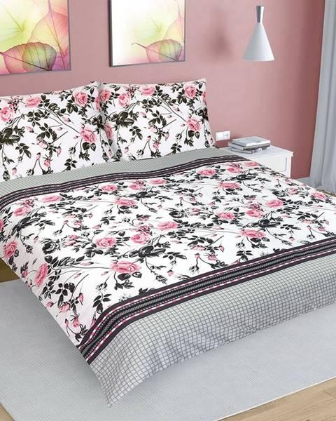 Bellatex Bellatex Bavlnené obliečky Ruža šípková, 200 x 220 cm, 2 ks 70 x 90 cm