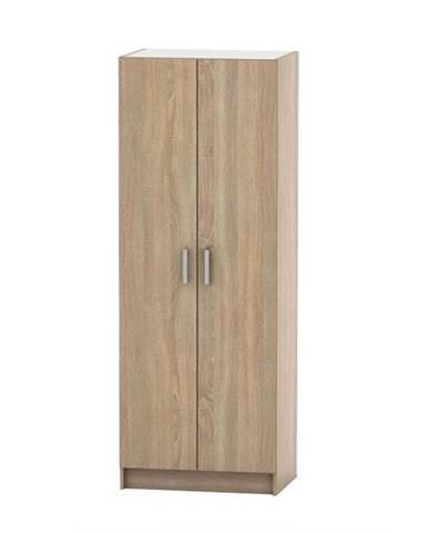 2-dverová skriňa vešiaková dub sonoma BETTY 7 BE07-009-00