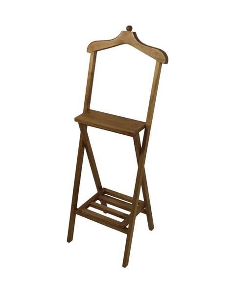 HSM collection Hnedý nemý sluha z mahagónového dreva HSM Collection Dressboy, výška 120cm