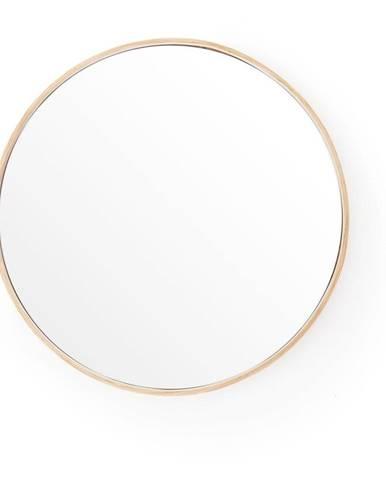 Nástenné zrkadlo s rámom z dubového dreva Wireworks Glance, ⌀ 31 cm