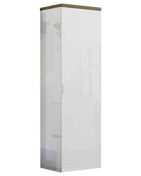Xora Xora PREDSIEŇOVÁ SKRIŇA, biela, farby dubu, 60/190/40 cm - biela, farby dubu