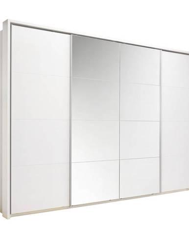 Xora SKRIŇA S POSUVNÝMI DVERMI, biela, 325/230/62 cm - biela