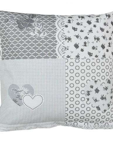 Bellatex Obliečka na vankúšik Srdce patchwork, 40 x 40 cm