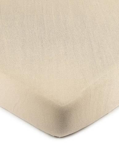 4Home jersey prestieradlo béžová, 220 x 200 cm