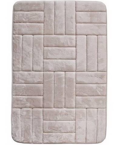 VOPI Kúpeľňová predložka s pamäťovou penou Štvorce krémová, 50 x 80 cm