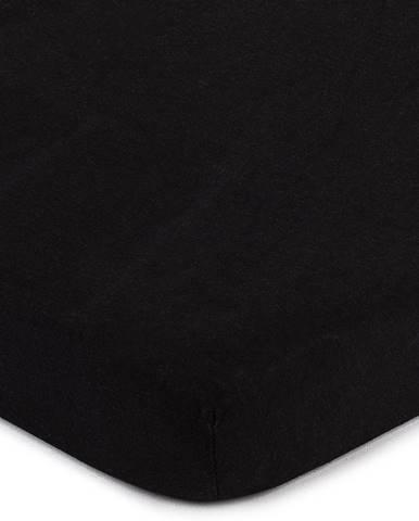 4home jersey prestieradlo čierna, 90 x 200 cm