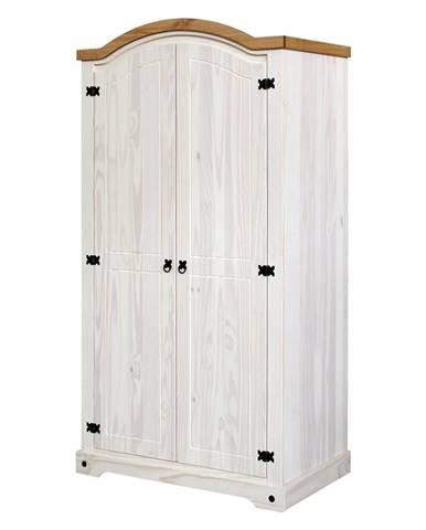 Skriňa 2-dverová CORONA biely vosk
