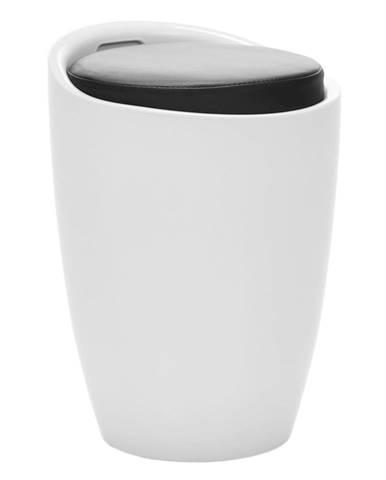 Taburet biela/čierna DALILA NOVA