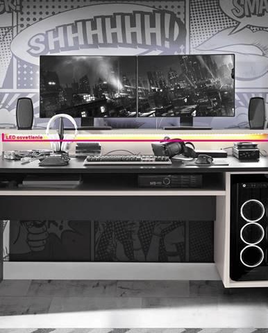 LED RGB osvetlenie 4-bodové 7 farieb TEZRO