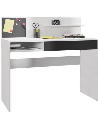PC stôl s magnetickou tabuľou biela/čierna IMAN