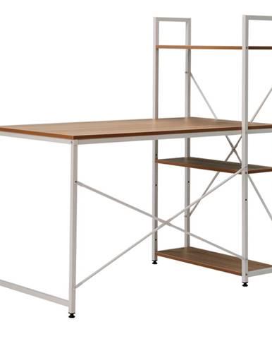 PC stôl/viacúčelový praktický stôl dub/biela VEINA