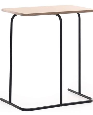 Príručný stolík dub/čierna LAVERNE TYP 2