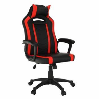 Kancelárske/herné kreslo čierna/červená AGENA