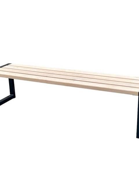 MERKURY MARKET Moderní lavička bez opěradla přírodní dřevo