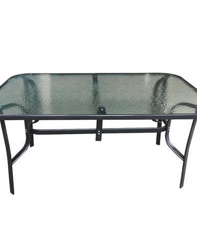 Záhradný sklenený stôl 150x90x70 čierna