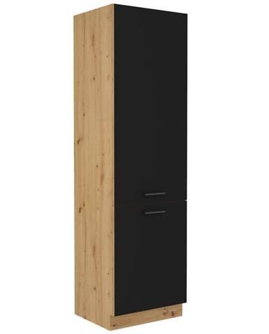 Skrinka do kuchyne Modena  60dk-210 2f čierny/dub artisan