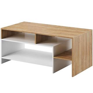 Konferenčný stolík Alva grande oak/biely mat