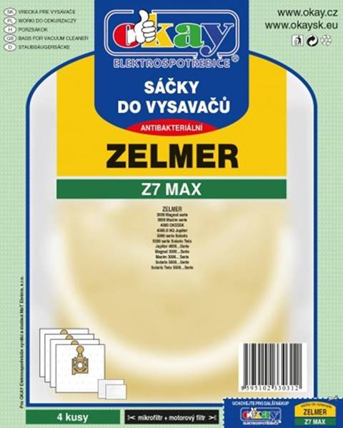 Jolly Vrecká do vysávača Zelmer Z7MAX, 4 ks