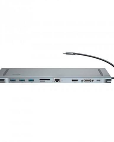 Dokovacia stanica Baseus Enjoyment Series USB-C adaptér, šedá