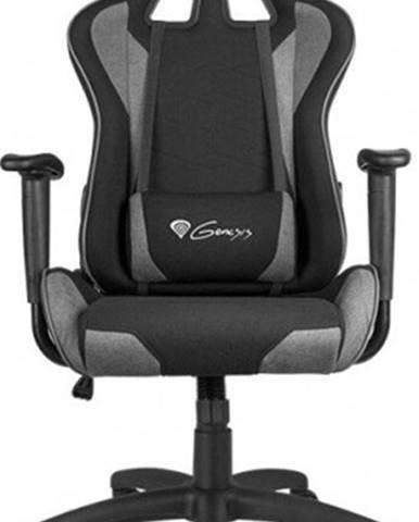Herná stolička Genesis Nitro 440 čierno-sivá tkanina - NFG-1533 + ZDARMA podložka pod myš a hub