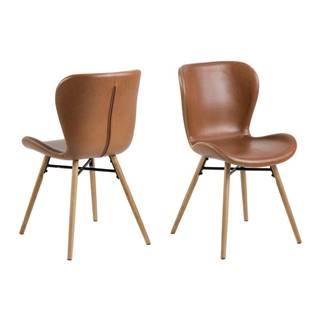 Súprava 2 koženkových stoličiek Actona Batilda