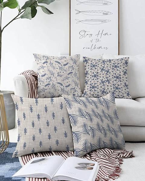 Minimalist Cushion Covers Súprava 4 obliečok na vankúše Minimalist Cushion Covers Mona, 55 x 55 cm