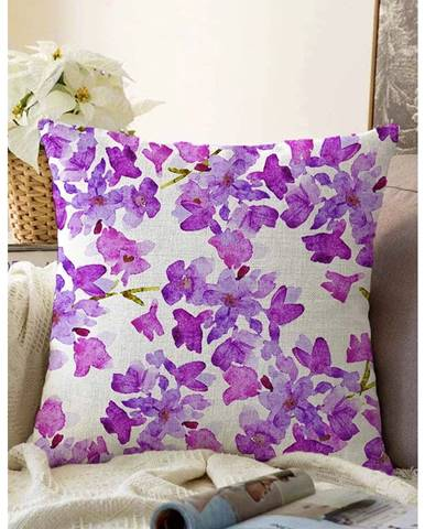 Béžovo-fialová obliečka na vankúš s prímesou bavlny Minimalist Cushion Covers Lilas, 55 x 55 cm