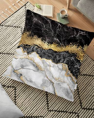 Obliečka na vankúš s prímesou bavlny Minimalist Cushion Covers Dark Marble, 70 x 70 cm