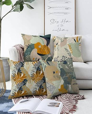 Súprava 4 obliečok na vankúše Minimalist Cushion Covers Joy, 55 x 55 cm