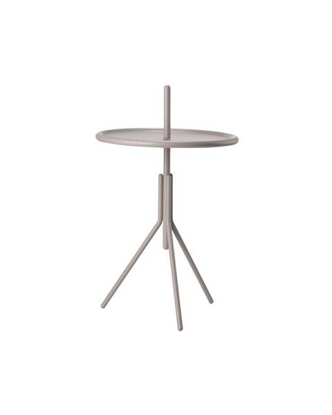 Zone Sivý kovový odkladací stolík Zone Inu, ø 33,8 cm