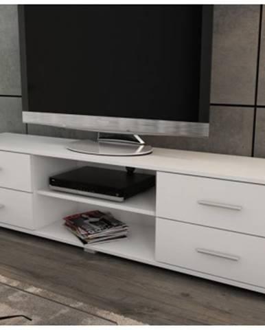 Široký TV stolík Oskar TV, biely. šírka 180 cm%