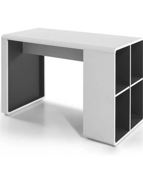 Sconto Písací stôl SIDON biela/antracit