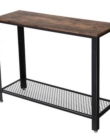Konzolový/prístavný stolík TOMAR čierna/hnedá