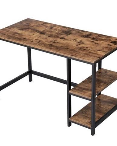 Písací stôl MAIA I čierna/hnedá