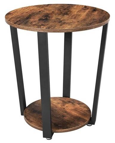 Prístavný stolík SALO čierna/hnedá