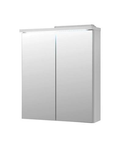 Zrkadlová skrinka POOL 60 cm, biela vysoký lesk