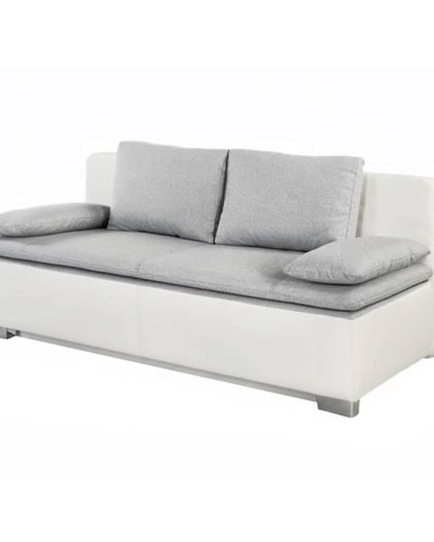 Sconto Pohovka DUETT-SE sivá/biela