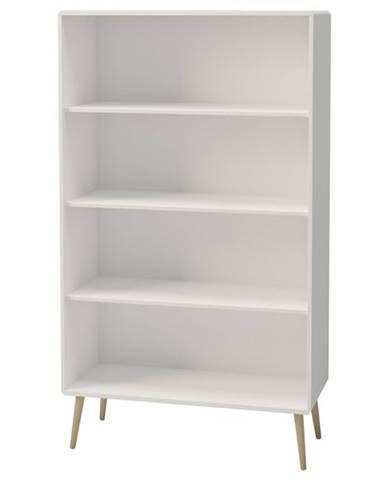 Regál JOSHUA biela, 82 cm
