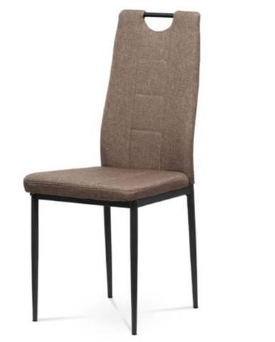 Jedálenská stolička LEILA hnedá/kov antracit