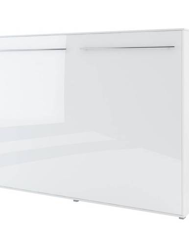 Výklopná posteľ CONCEPT PRO CP-04 biela vysoký lesk, 140x200 cm, horizontálna