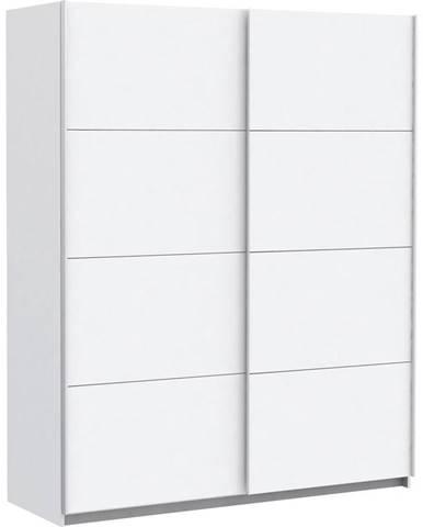 Ti`me SKRIŇA S POSUVNÝMI DVERAMI, biela, 170/210/61 cm - biela