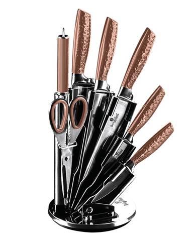 8-dielna sada nožov v stojane metalická Rose Gold BERLINGERHAUS BH-2462
