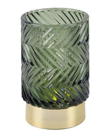 Zelená LED sklenená stolová lampa PT LIVING ZigZag