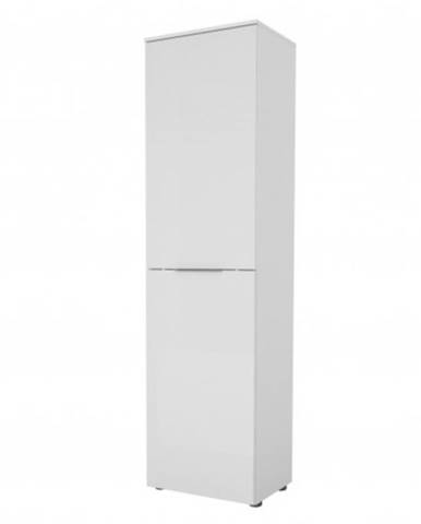Predsieňová skriňa TERRY II biela matná/biele sklo
