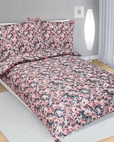 Bellatex Krepové obliečky Dahlia lososová, 140 x 200 cm, 70 x 90 cm