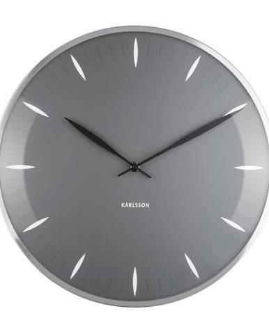 Karlsson 5761GY dizajnové nástenné hodiny, pr. 40 cm