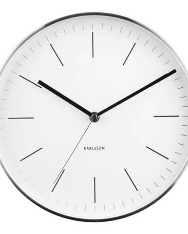Karlsson 5732WH dizajnové nástenné hodiny, pr. 28 cm